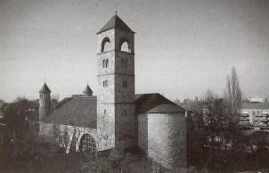 Die wiederaufgebaute Kirche, Blick vom Südosten